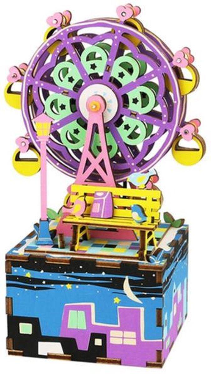 Robotime modelbouwpakket - Music Box Ferris Wheel