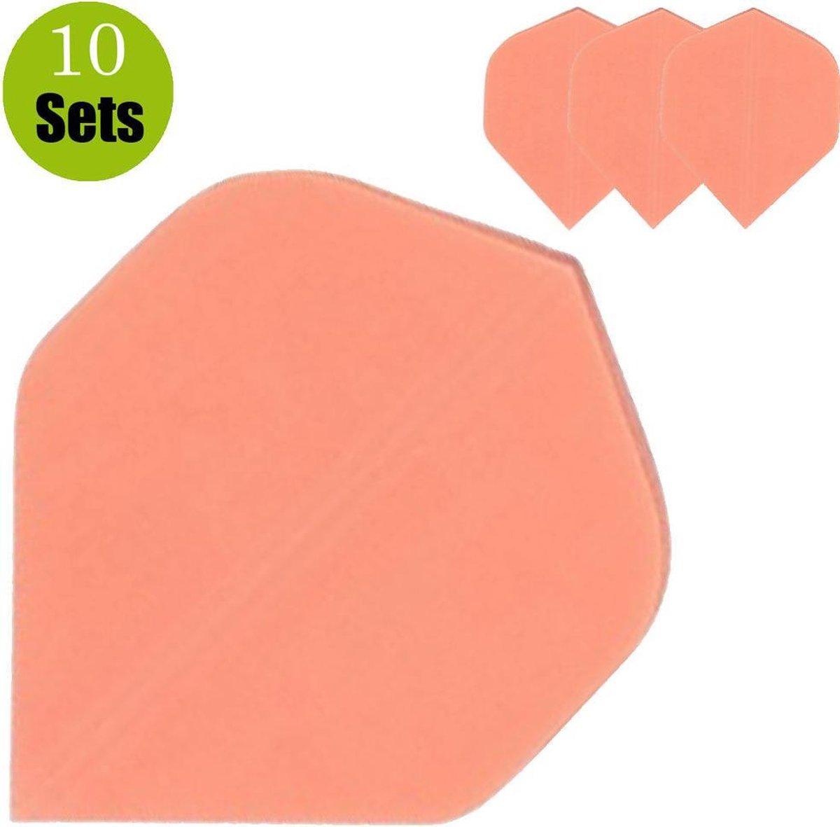 Poly Plain Dartflights - Fluor Oranje- (10 Sets)