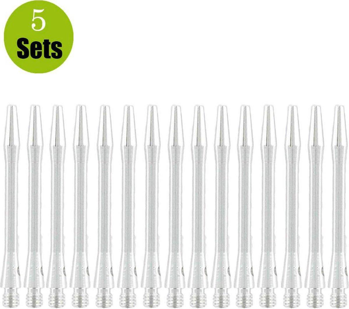 Bulls Aluminium 5sets DartShafts - Zilver - Medium - (5 Sets)