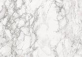 Decoratie plakfolie marmer look wit/grijs 45 cm x 2 meter zelfklevend - Decoratiefolie - Meubelfolie