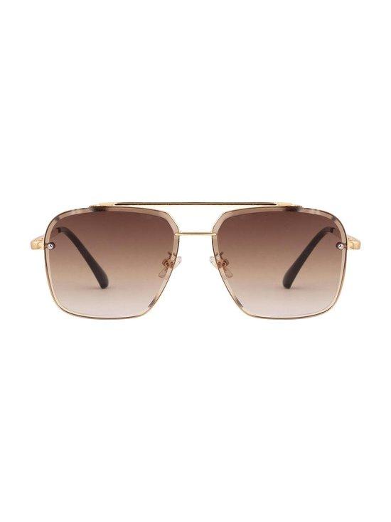 Square aviator sunglasses brown