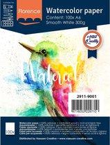 Florence Aquarelpapier – Wit – A6 – 300g – 100 vellen