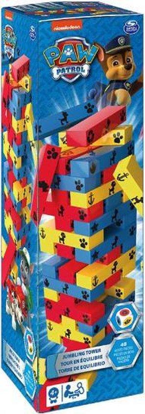 Thumbnail van een extra afbeelding van het spel stapeltoren Paw Patrol 7,9 x 28 cm hout 49-delig