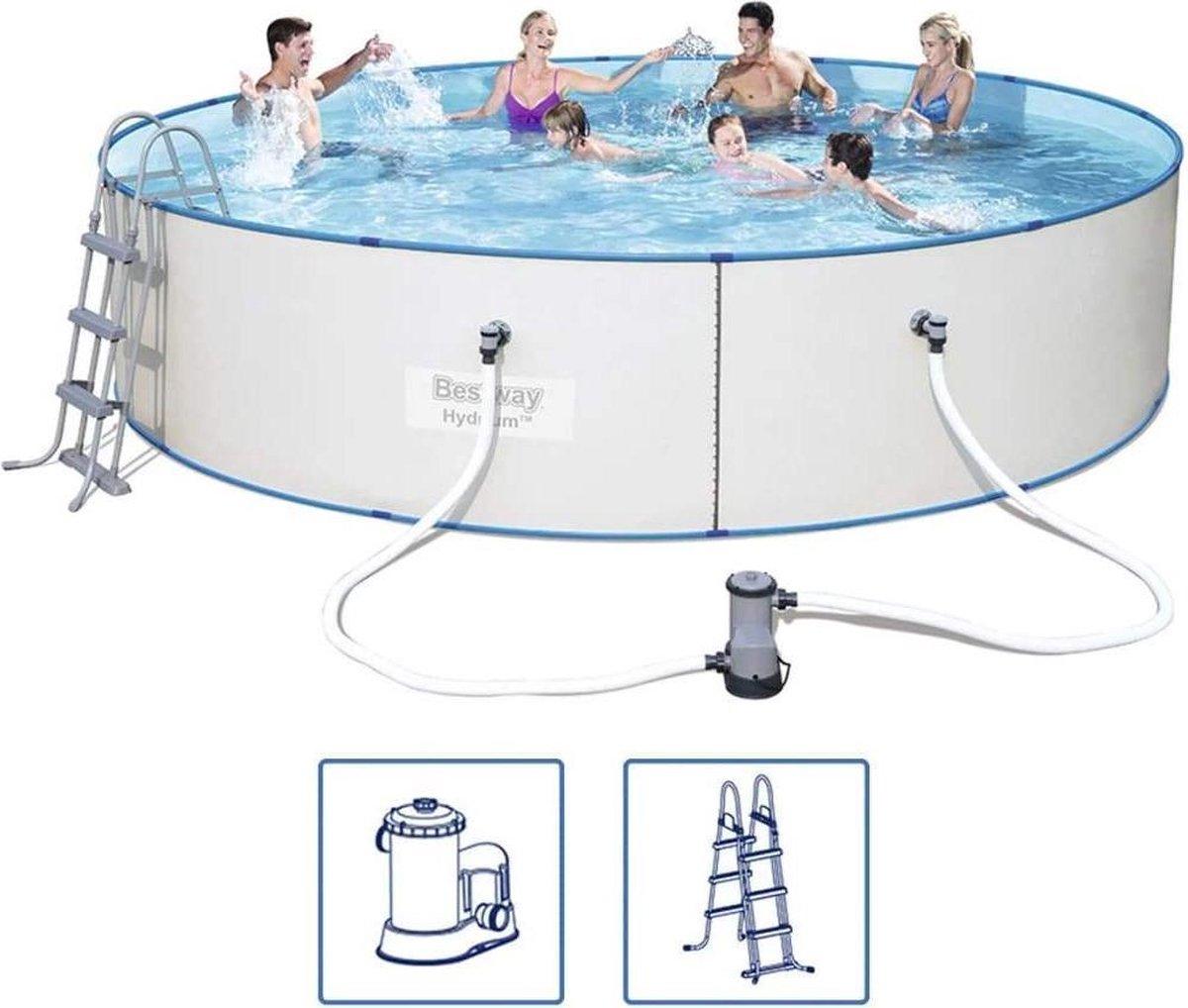 Bestway Hydrium Zwembadset rond 460x90 cm stalen frame