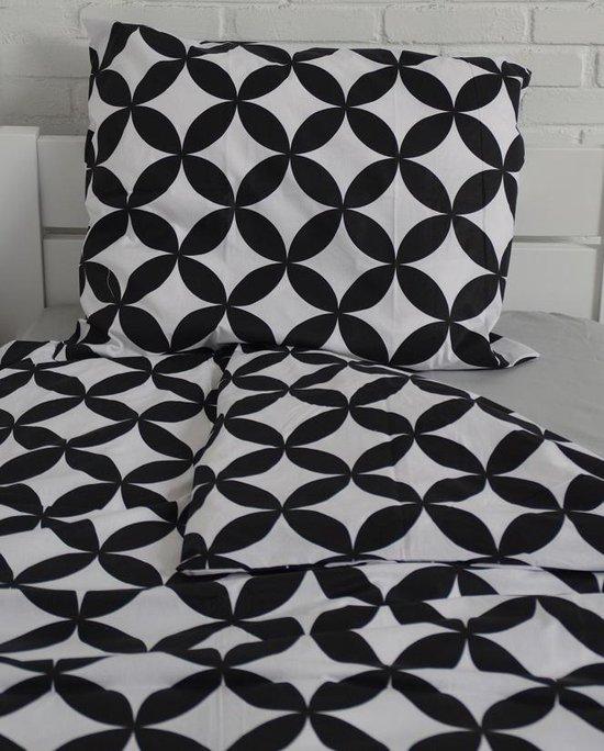 Lotte & Julius Dekbedovertrek - 140 x 200 cm - Zwart en Wit / Eenpersoonsdekbedovertrek - Lotte & Julius
