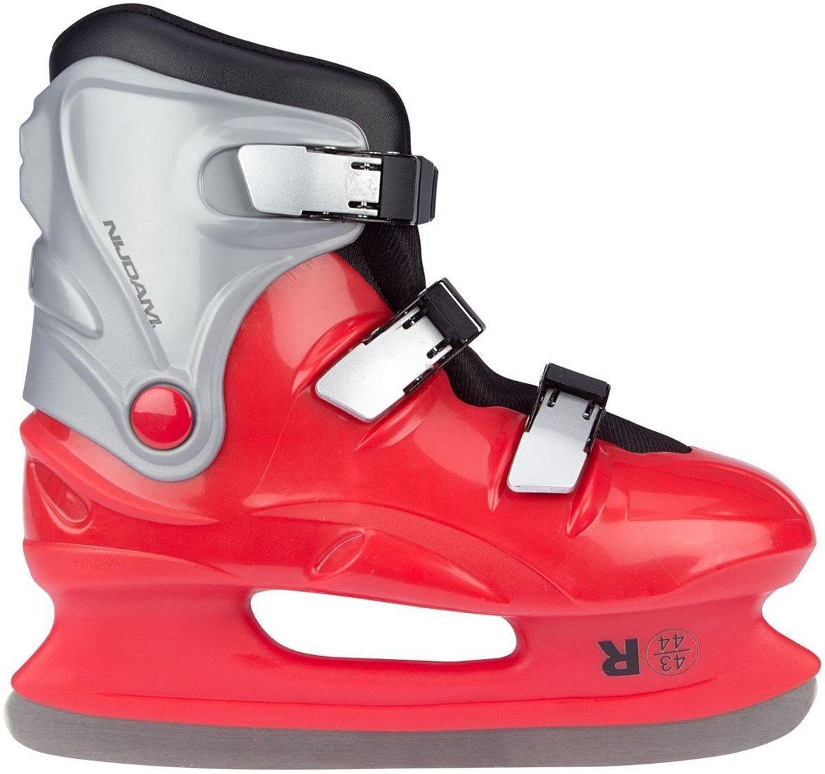 Nijdam Ijshockeyschaatsen Junior Rood Maat 43/44