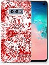 Samsung Galaxy S10e TPU Hoesje Design Angel Skull Red