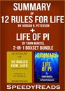 Omslag Summary of 12 Rules for Life: An Antidote to Chaos by Jordan B. Peterson + Summary of Life of Pi by Yann Martel 2-in-1 Boxset Bundle
