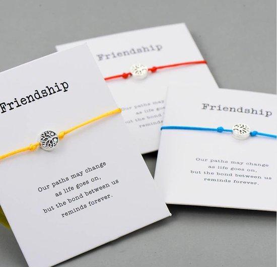 Mannies vriendschapsarmband - 2 stuks - Vriendschaps armband met boodschap! Één voor jou, één voor je vriend(in)! - Meerdere kleuren - Gratis verzending - Vriendschap - Roze