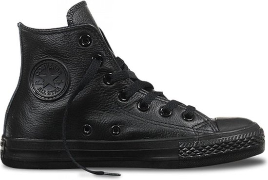 Zwarte Lederen Sneakers Converse CT All Star Hi