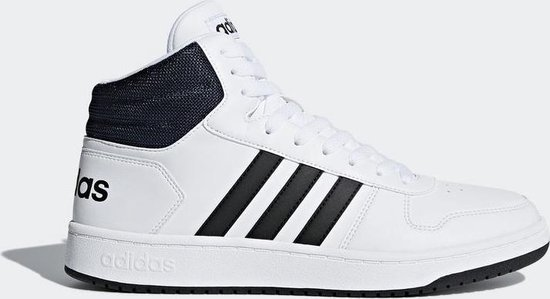 bol.com | adidas Hoops 2.0 Mid Sneakers Heren - Wit