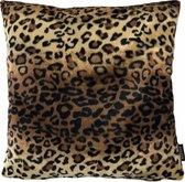 Furry Leopard / Harige Luipaard Kussenhoes | Katoen - Polyester | 45 x 45 cm