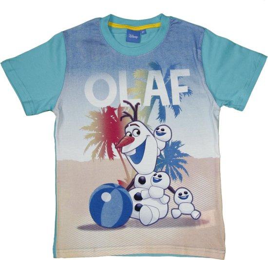 Disney Frozen Jongens T-shirt - turquoise - Maat 128