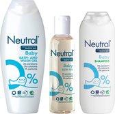 Neutral 0% Baby Huidolie + Washgel + Shampoo - Combinatie pack