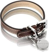 Hennessy and Sons Royal - Hondenhalsband - Bruin - maat S