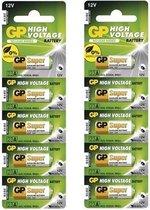10 Stuks (2 Blisters a 5st) - GP Super High Voltage alkalisch batterij 23A (V23GA / MN21)