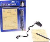 Johntoy Politie Bonnenboekje met Potlood en Fluit
