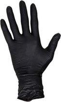 Nitril wegwerp handschoenen ZWART maat L 100 stuks