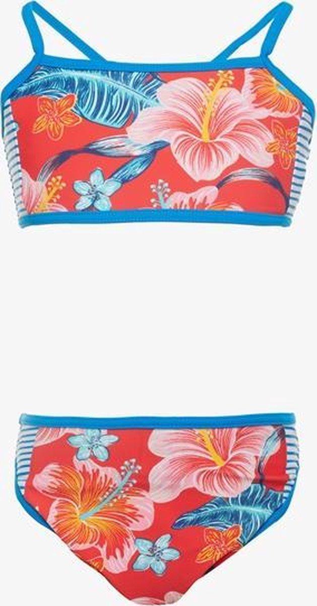 Osaga meisjes bikini met bloemenprint - Blauw - Maat 146/152