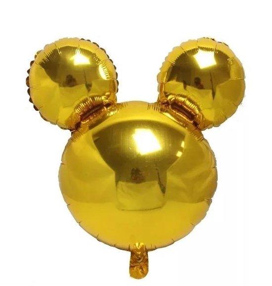 Folieballon Mickey/Minnie Mouse goud, 40cm kindercrea