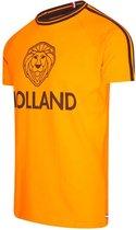 Oranje heren t-shirt - Holland shirt - Oranje voetbalshirt - 100% Katoen - maat M