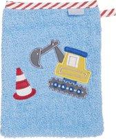Playshoes Washandje Graafmachine Junior 20 X 15 Cm Katoen Blauw
