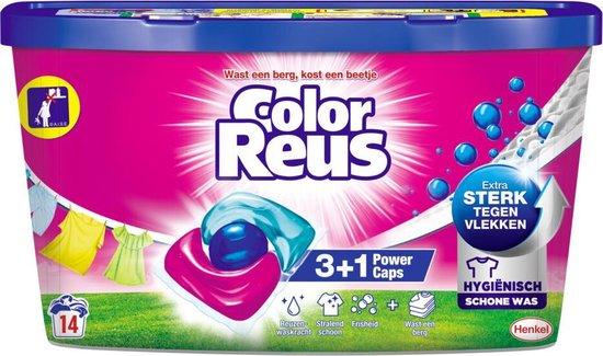 Witte Reus Power Caps Wasmiddelcapsules Color Reus 14 stuks