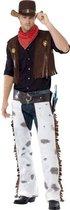 Cowboy Wild West kostuum | Verkleedkleding heren maat L (52-54)