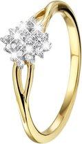 Geelgouden ring met 24 diamanten