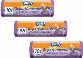 Swirl Geparfumeerde pedaalemmerzakken trekband 10ltr - Multipack 3 x 14 stuks