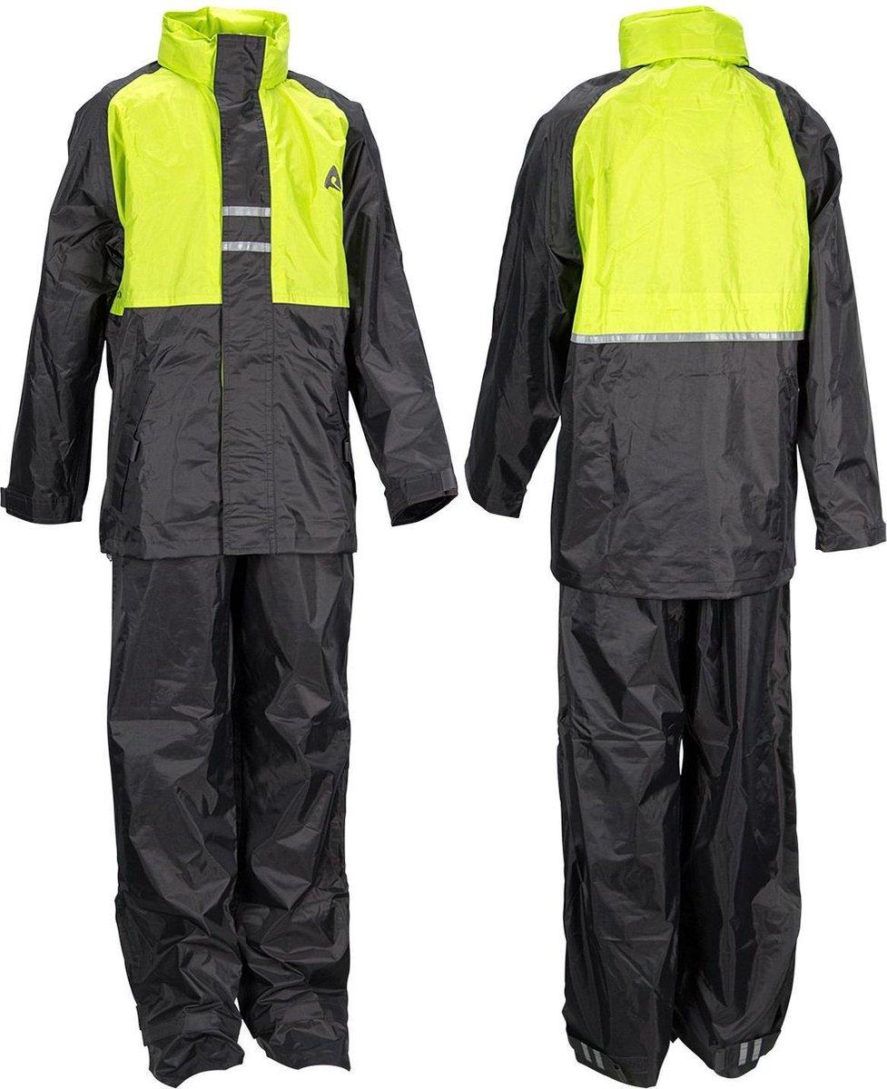 Ralka Regenpak - Kinderen - Unisex - Maat 164 - Lime/Antraciet