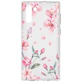 Design Backcover Samsung Galaxy Note 10 hoesje - Bloesem Watercolor