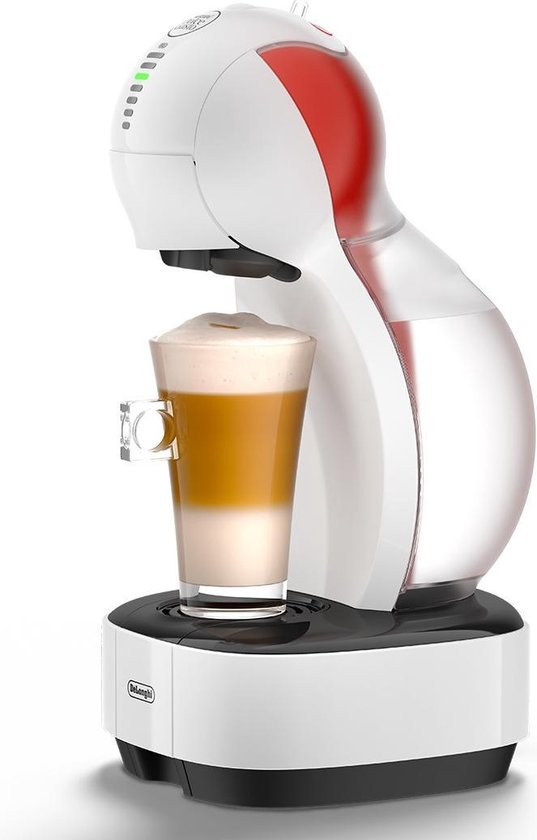 DeLonghi Colors Vrijstaand Volledig automatisch Koffiepadmachine 1l Zwart, Rood, Wit