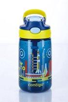 Contigo Gizmo flip drinkfles kids - blue nautical space print - 420ml