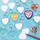 Ontwerp een hartvormige sleutelhanger  (6 stuks per verpakking)
