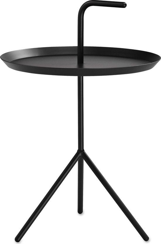 Hay DLM bijzettafel salontafeltje serveertafeltje - black coated metaal - Zwart