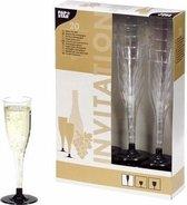 Champagneglazen - Plastic - 20 stuks