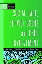 Boekomslag van 'Social Care, Service Users and User Involvement'