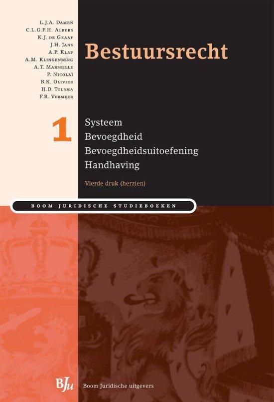 Boek cover Bestuursrecht / 1 Systeem bevoegdheid bevoegdheidsuitoefening handhaving van L.J.A. Damen (Paperback)