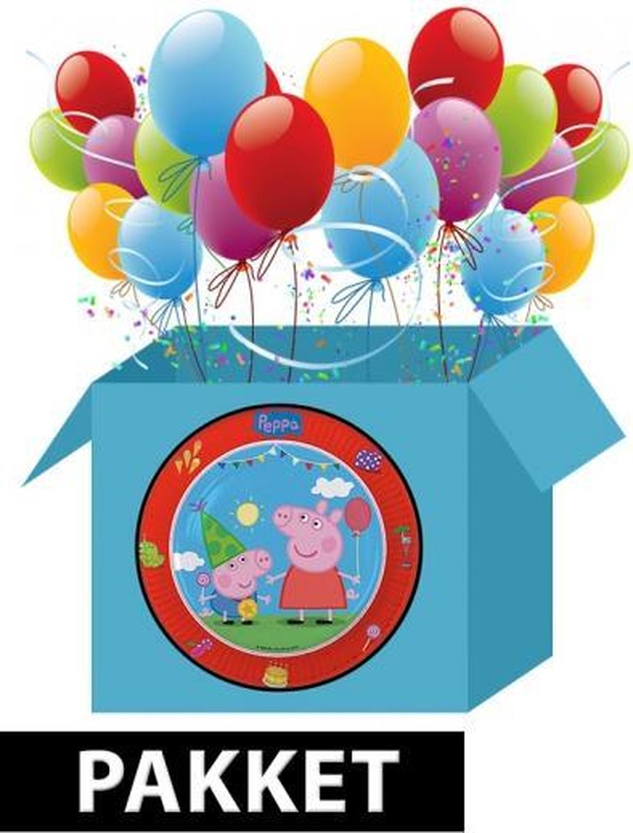 Peppa Big kinderfeest pakket - Shoppartners