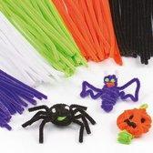 Halloween pijpenragers - creatieve hobbymateriaal voor kinderen ideaal voor decoratie maken en modelbouw (120 stuks)