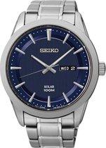 Seiko SNE361P1 horloge heren - zilver - edelstaal