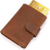 Figuretta RFID Creditcardhouder - 6 pasjes - Hunter Bruin