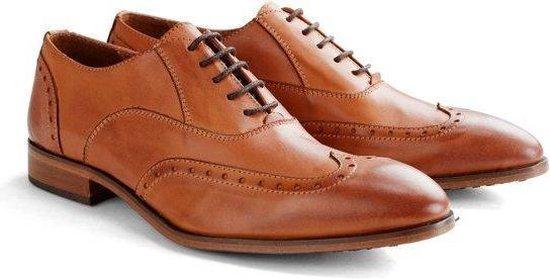 DEN BROECK Pearl St. Leather - Nette lage veterschoen - Cognac - Maat 48