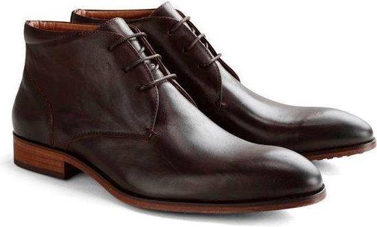 DEN BROECK John St. Leather - Nette halfhoge veterschoen - Bruin