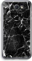 Samsung Galaxy J5 (2017) Prime Transparant Hoesje (Soft) - Zwart Marmer 2