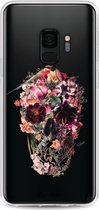 Samsung Galaxy S9 hoesje Transparent Skull Casetastic Smartphone Hoesje softcover case