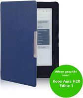 Lunso - sleepcover hoes - Kobo Aura H20 edition 1 (6.8 inch) - Blauw