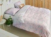 Covers & Co Loveletter - Dekbedovertrek - Lits-jumeaux - 240x200/220 cm + 2 kussenslopen 60x70 cm - Rose/grey