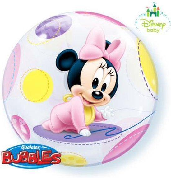 Disney Baby Minnie Mouse bubble ballon ø 56 cm.